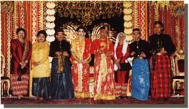 Traditional Bugis royal wedding costume
